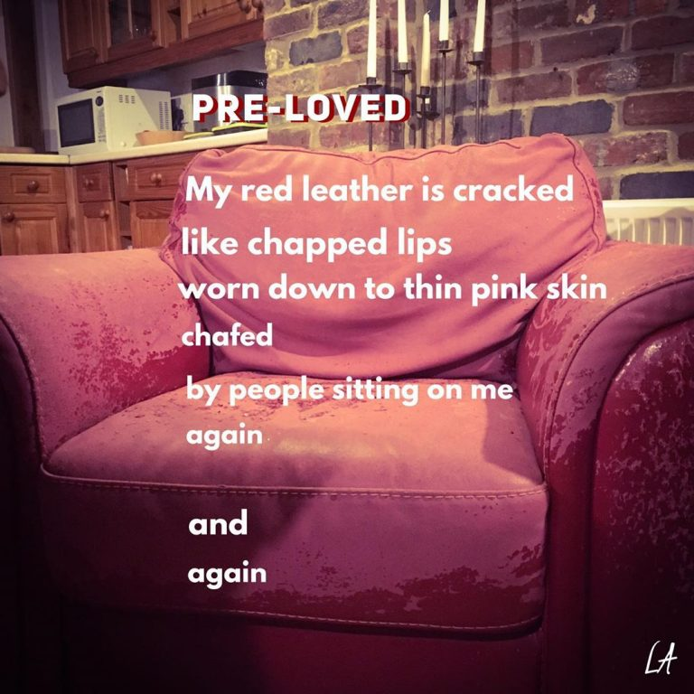 Poems about everyday objects: Pre-Loved