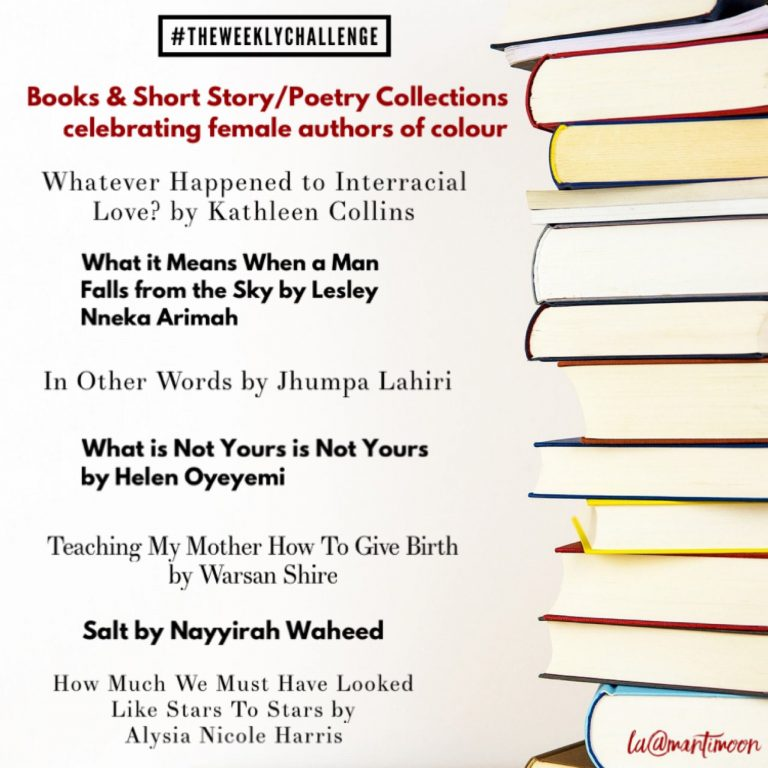 The weekly challenge: women of colour books list
