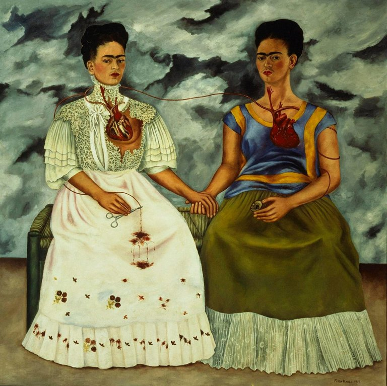The Weekly Challenge: The Two Fridas, a painting by Frida Kahlo