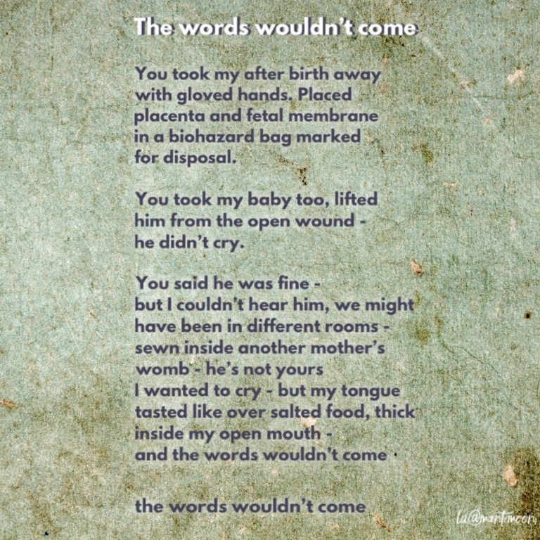 The Weekly Challenge: The words woudn't come poem by lottie angell